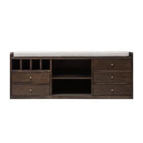 Lumikasa Bangku Dark Ash Stackable Entryway Storage 5 Drawers