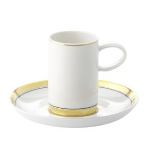 Vista Alegre Domo Gold Coffee Cup and Saucer
