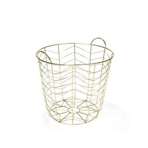 Harriet and Co Gold Wire Multifunctional Basket